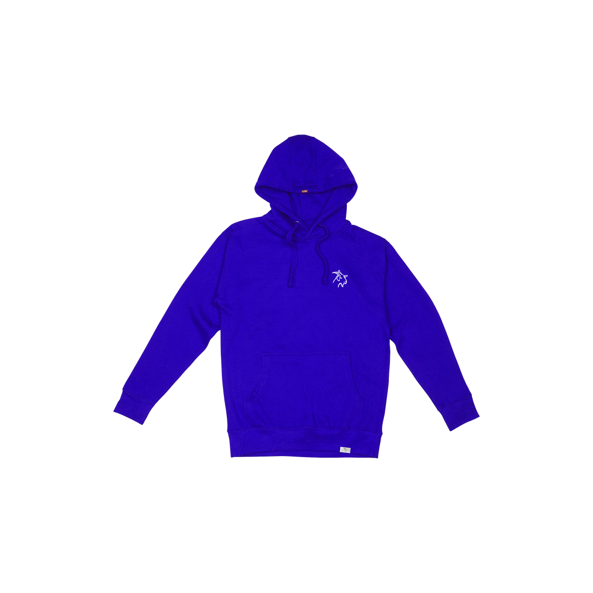 Blue Classic Embroidered Goat Hoodie