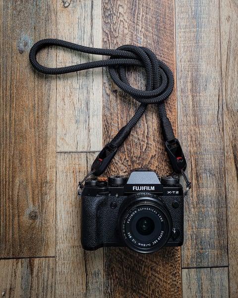 Image of Black rope shoulder strap w/ PD anchor links