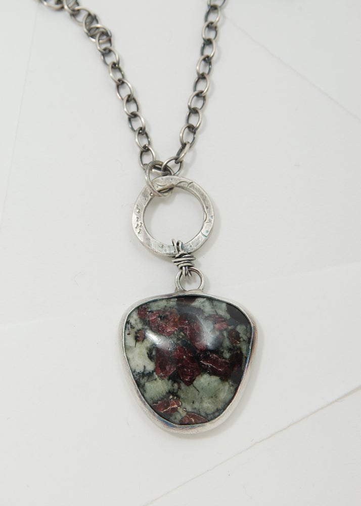 Image of Eudialyte and Sterling Silver Necklace