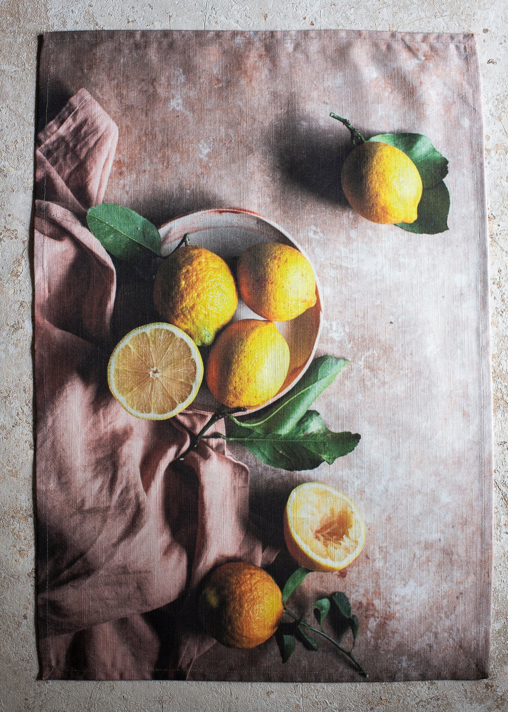 Image of Lemons — Tea Towel