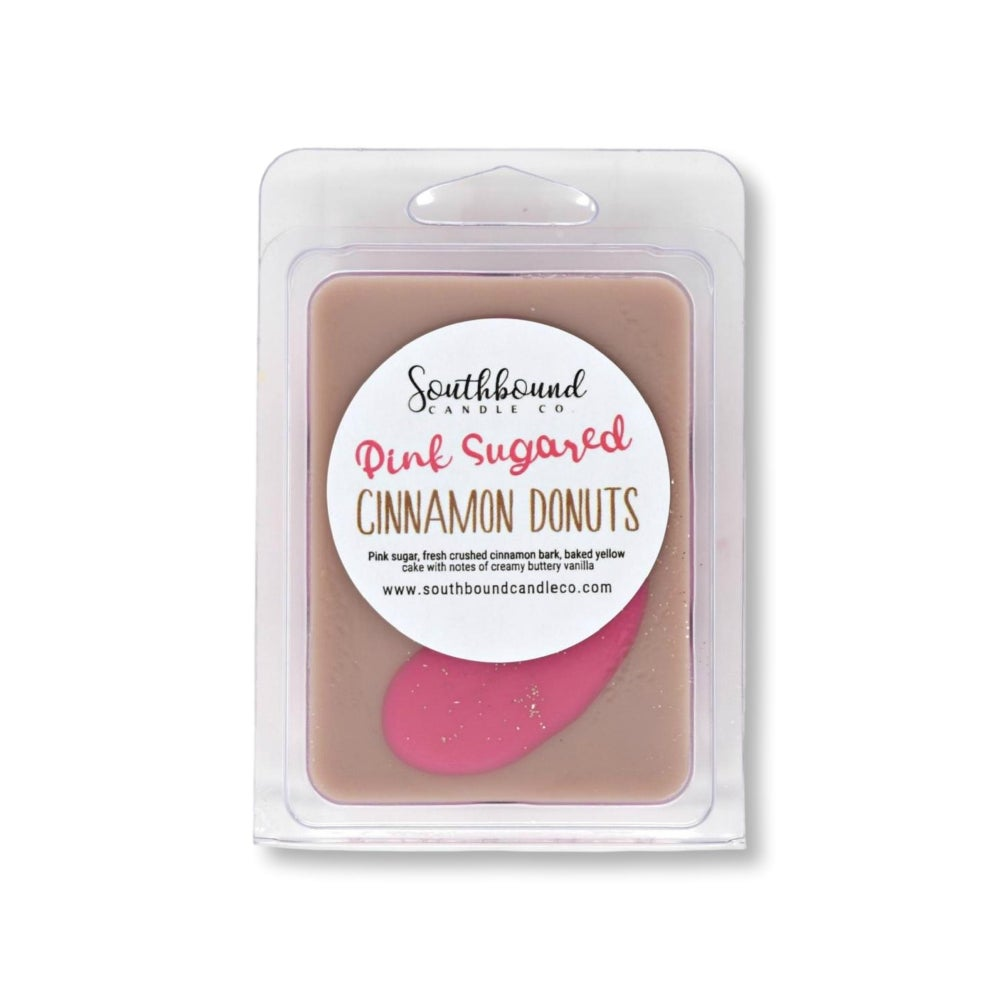 Image of Clamshell - Pink Sugared Cinnamon Donuts