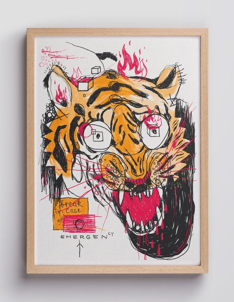Image of FIRE TIGER – 21×30