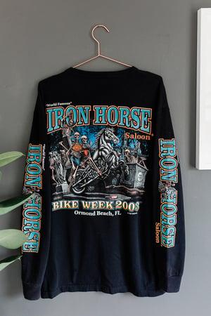 Image of Vintage Long Sleeve Iron Horse Saloon Bike Week