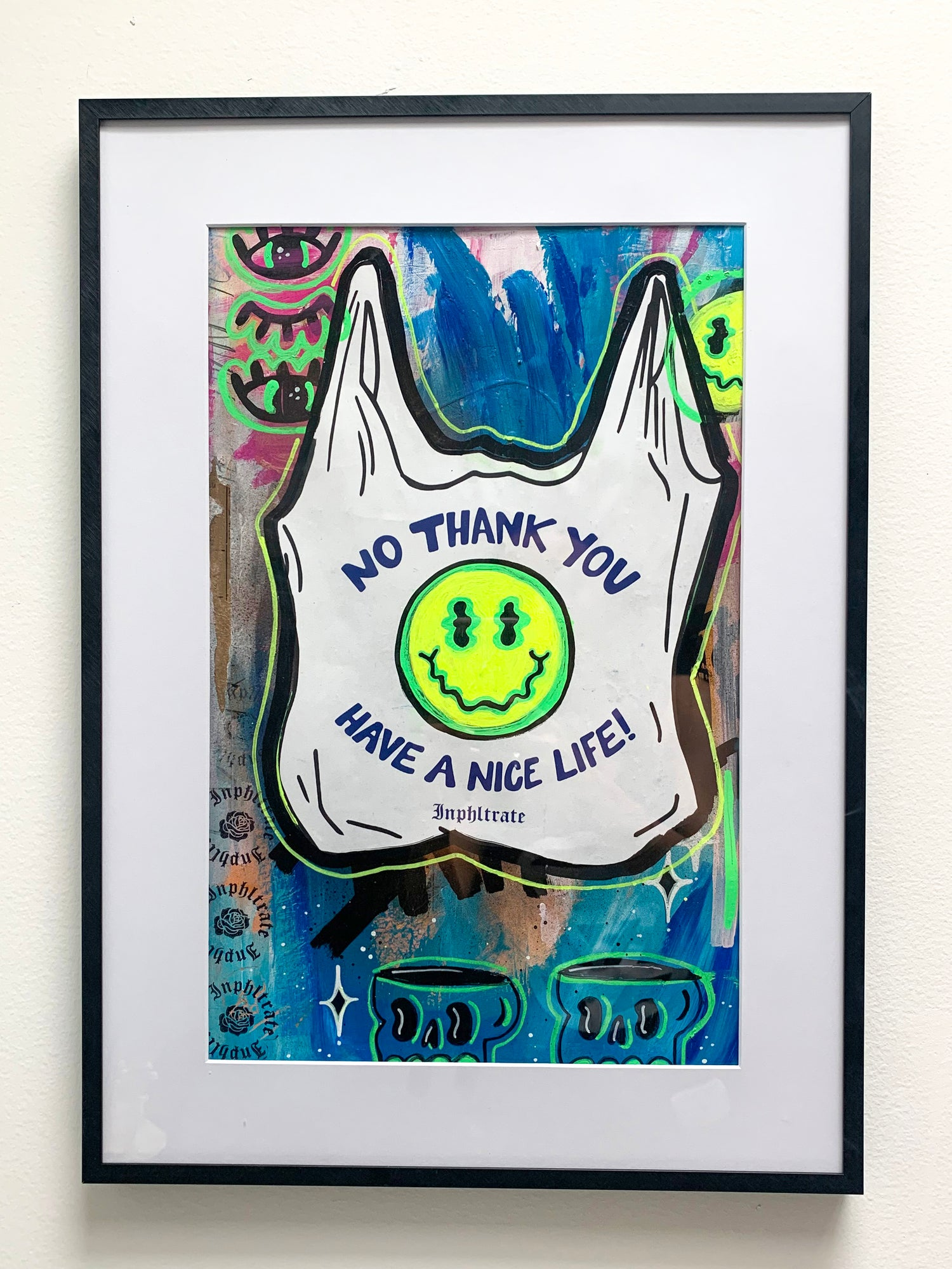 Image of Have A Nice Life - Collaged Poster