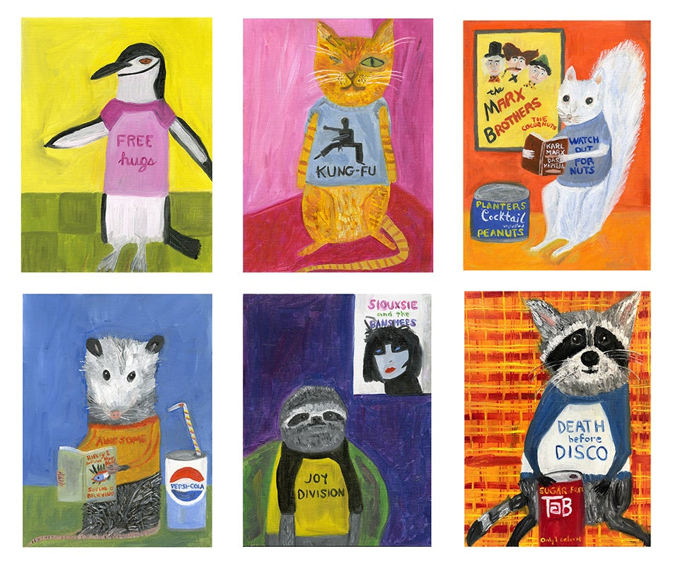 Image of Animal Life note card set