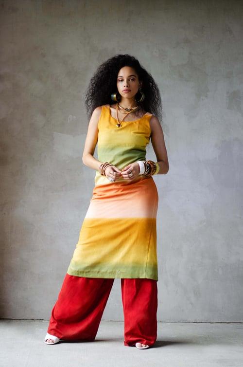 Image of Vintage Mimosa Sunrise Ombré Overlay Dress