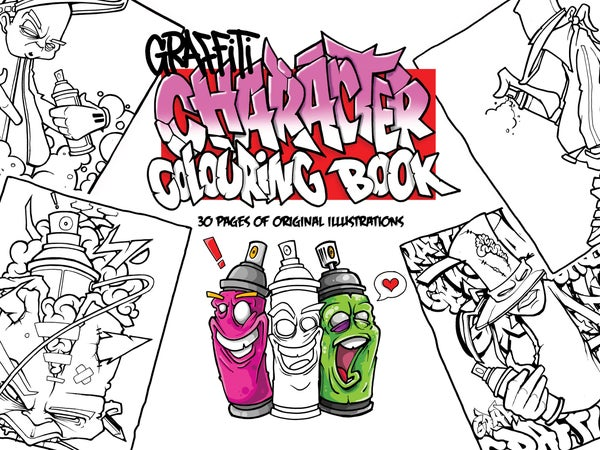 Image of GRAFFITI COLOURING BOOK CHARACTERS 1