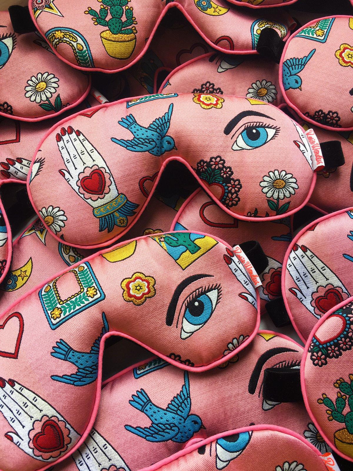 Mexico Woven Eye Sleep Mask as featured in Grazia