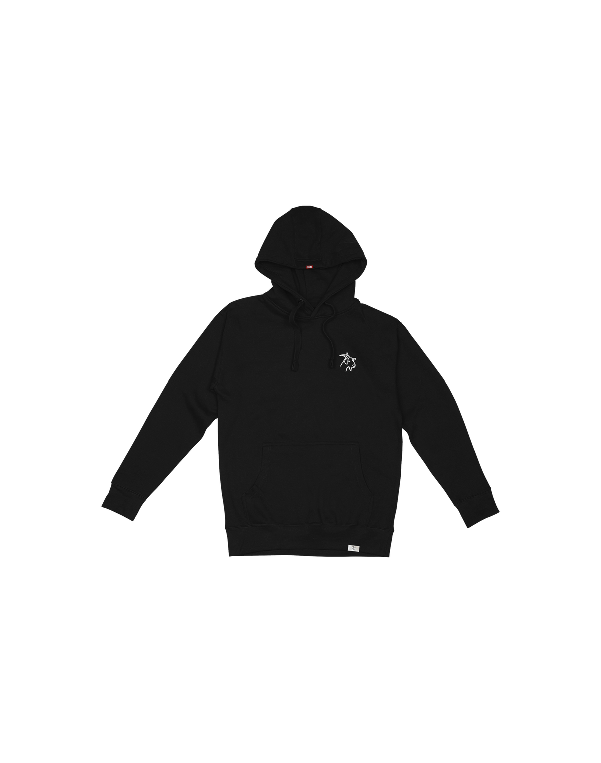BLACK CLASSIC EMBROIDERED GOAT HOODIE