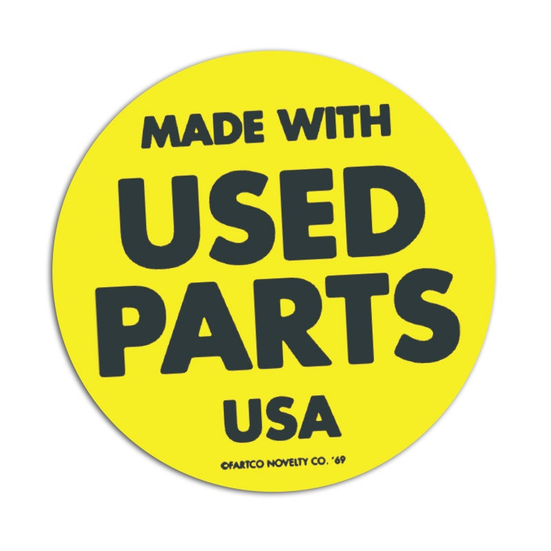 Image of Used Parts Sticker