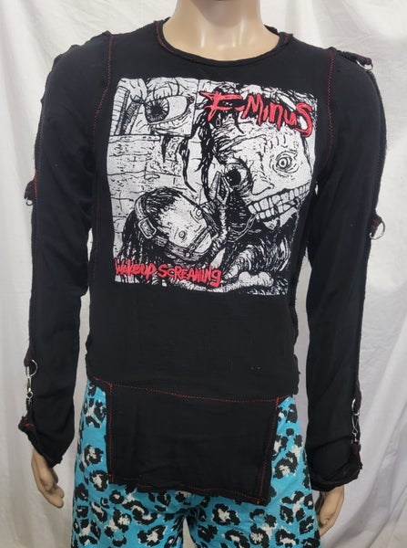 Image of F-Minus black bondage shirt size Small