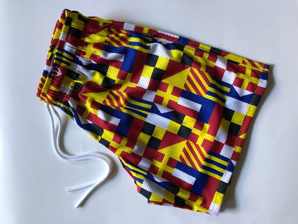 Image of ATR x YOTE FLAG SHORTS