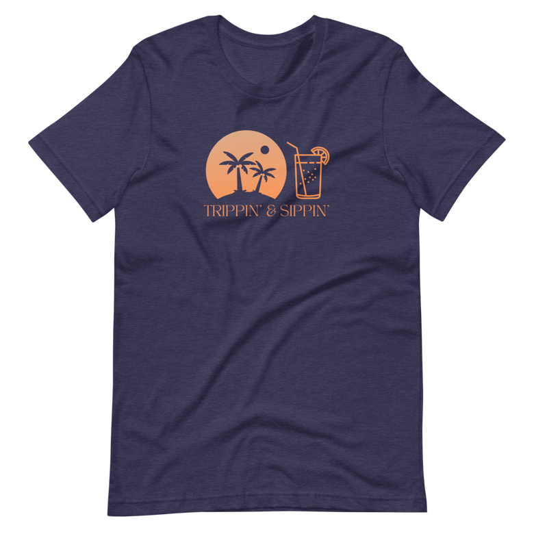 Image of Trippin' & Sippin' - Heather Navy