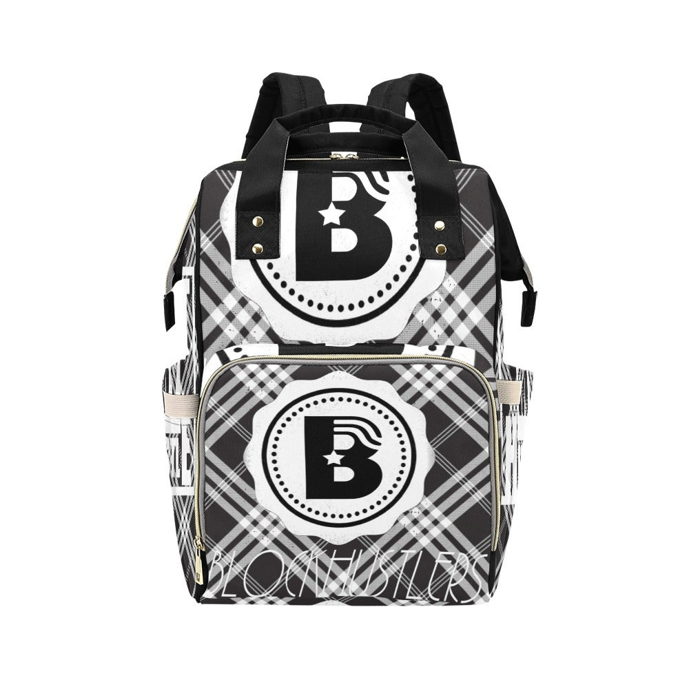 Image of Respect My Hustle B/W Multi-Function Backpack