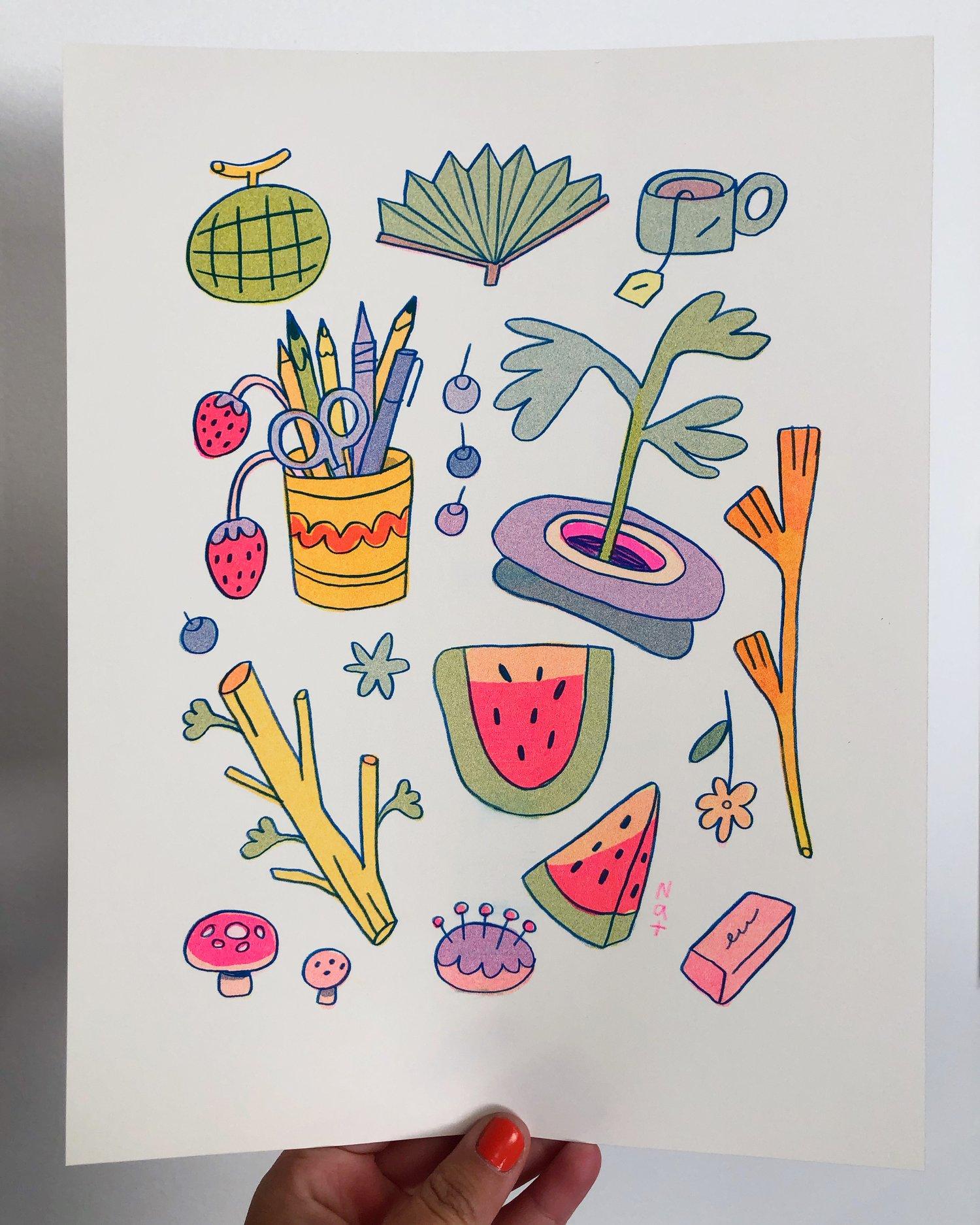 Watermelon Collection ~ Risograph Print
