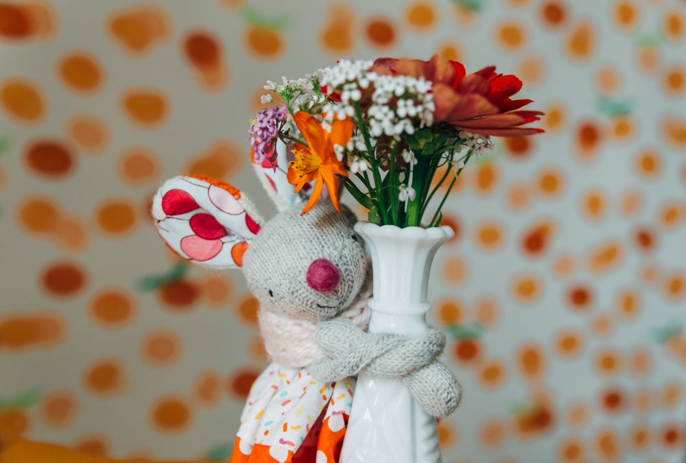 Image of Mimi - Wool Filled Weighted Mini sock mouse with hat and dress
