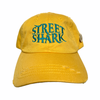 """1 of 1 Yellow and Teal """"Street Shark"""" Vintage Cap"""