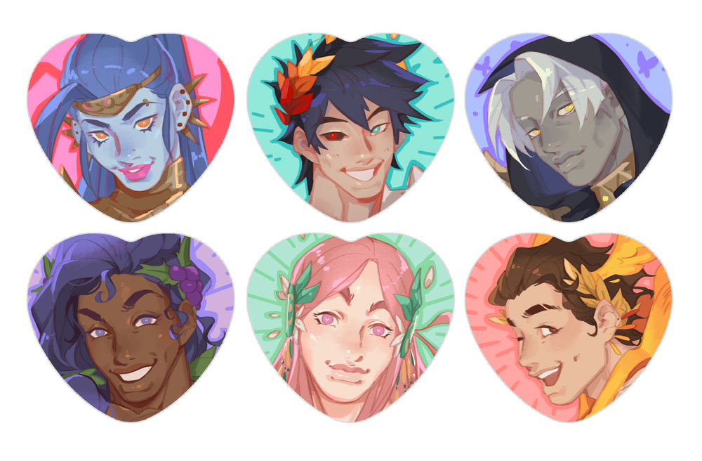 Image of Hades // Heart Buttons