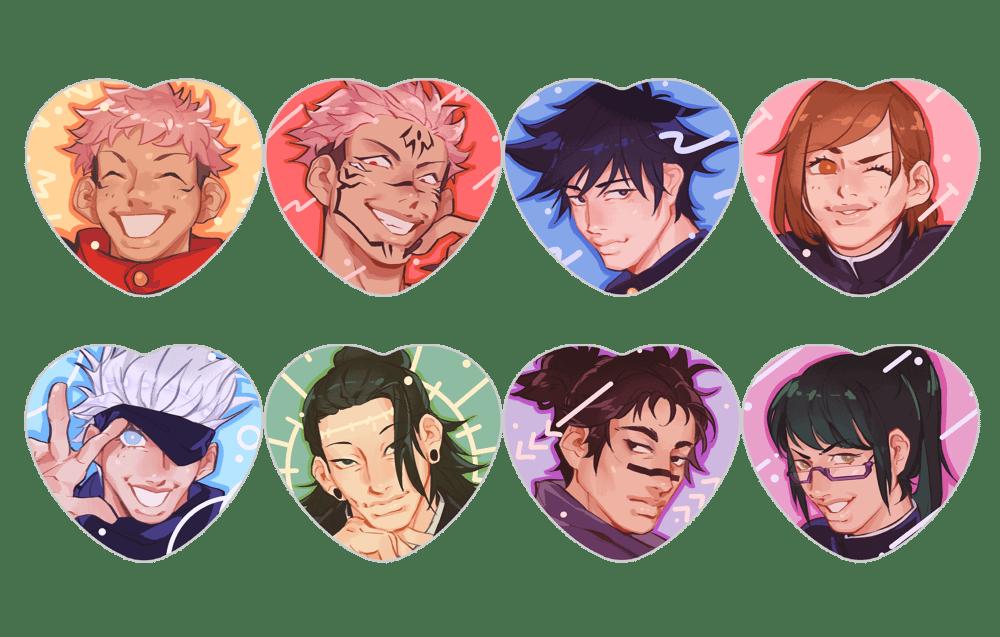 Image of Jujutsu Kaisen // Heart Buttons