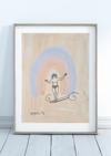 """A4 Original Artwork Aquarell """"Bailarina do Mar"""""""