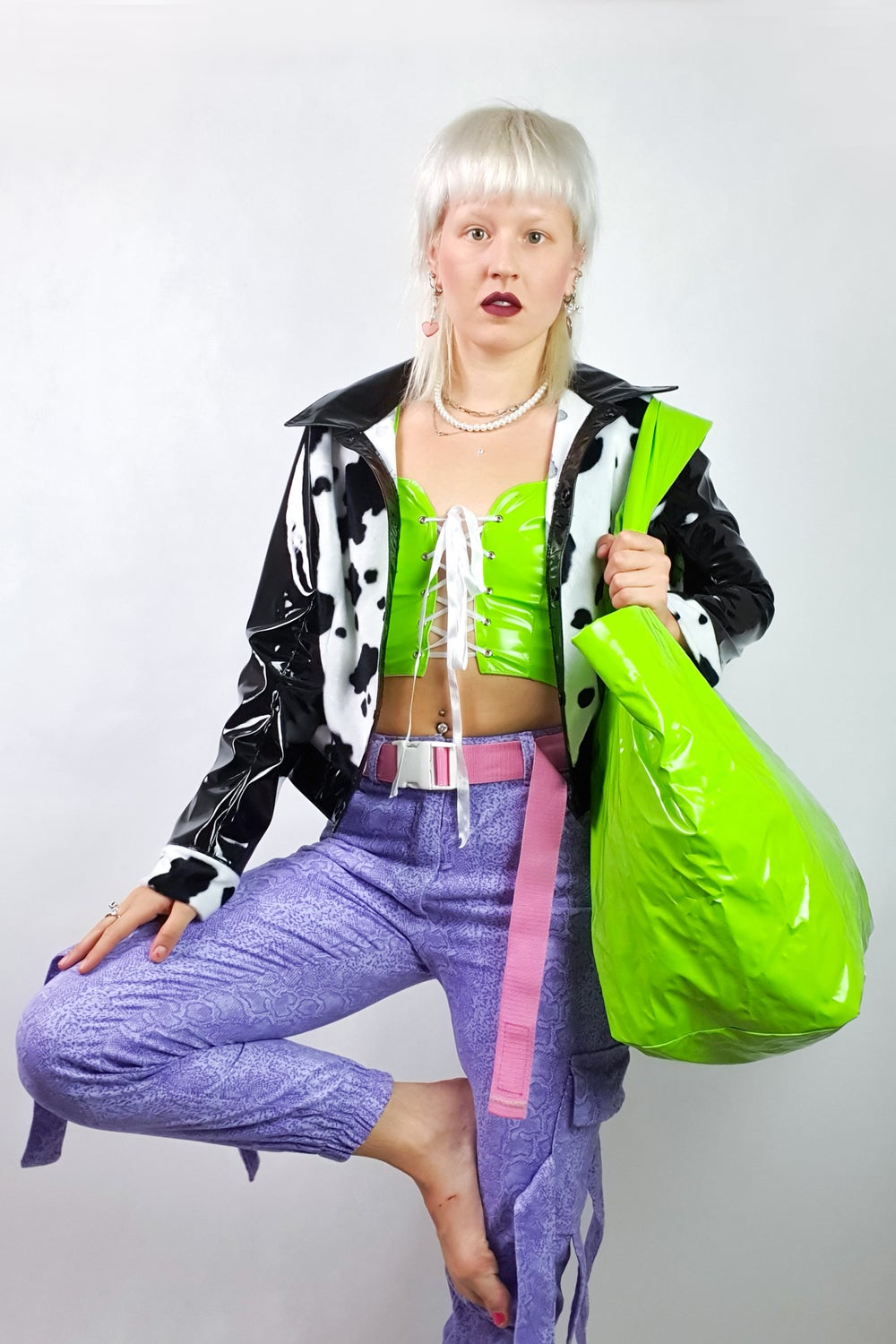 Image of green PVC top