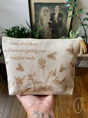 Image of Engraved Canvas Zipper Pouch
