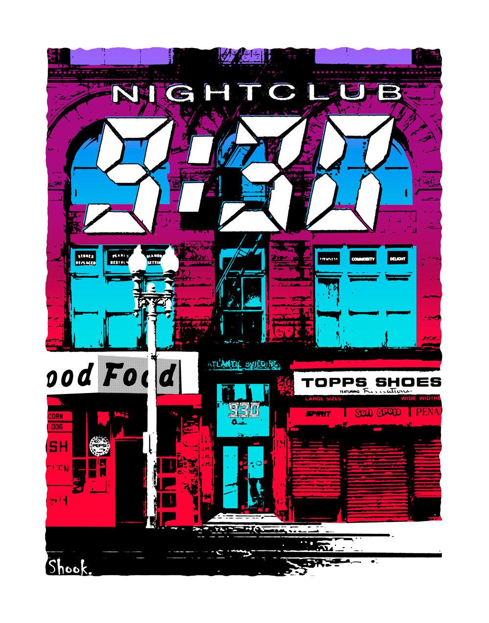 9:30 Club F Street, Washington DC Giclée Art Print (Multi-size options)