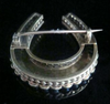 EDWARDIAN VICTORIAN 15CT LARGE NATURAL SEED PEARL HORSESHOE BROOCH