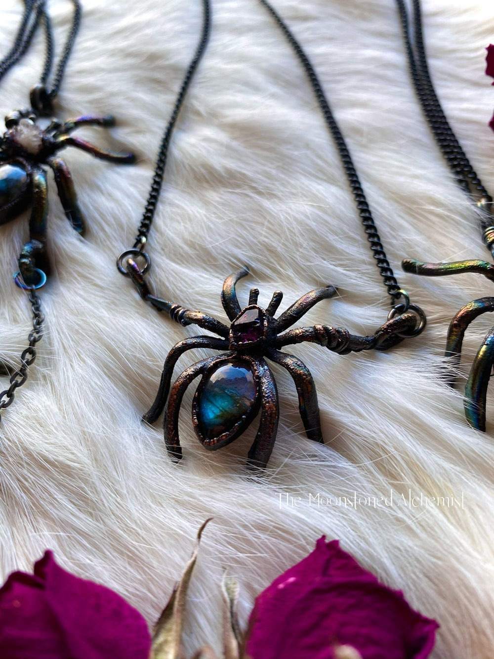 Image of Crystal Spider Baby Amulets
