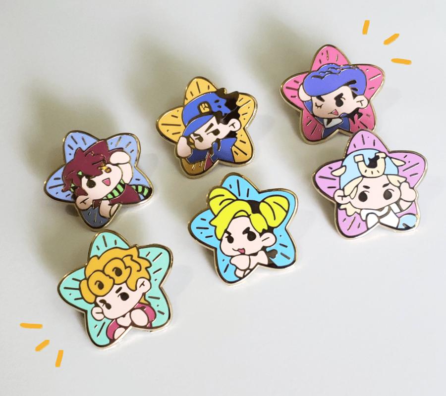 Image of JJBA // Shining Star Enamel Pins