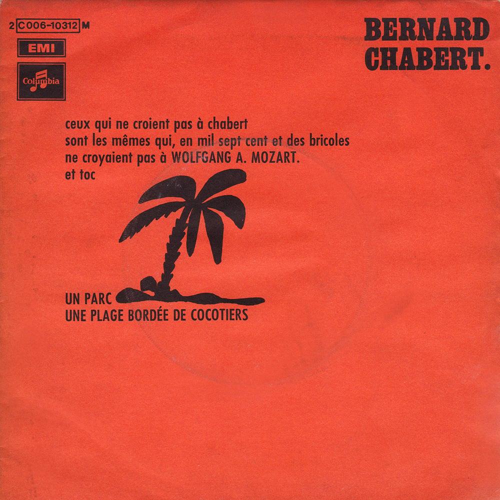 Bernard Chabert - Un Parc / Une Plage Bordée De Cocotiers ( Columbia - 1969)