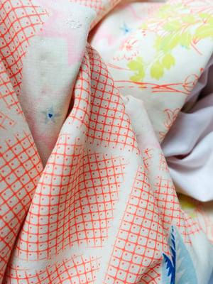 Image of Kimono af uld og bomuld med tegninger af vinca og berberis - vendbar