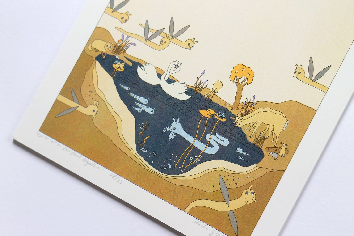 Image of 'We are all in this Pond together' 4-Colour Risoprint
