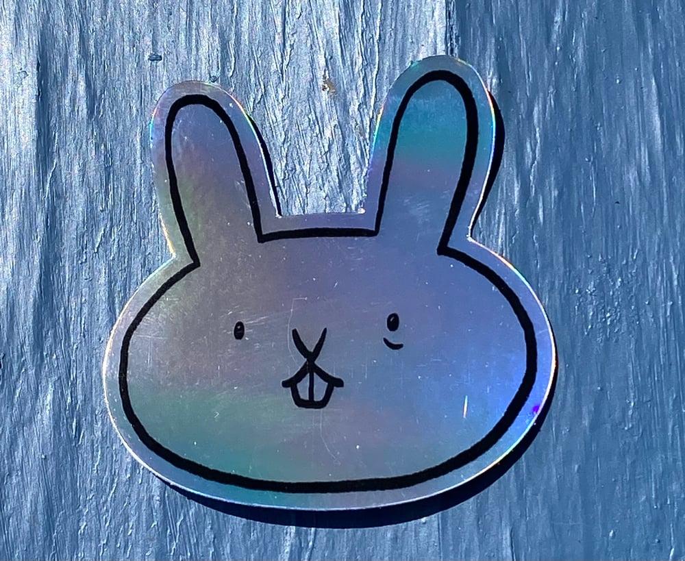 Holo Rabbit Sticker