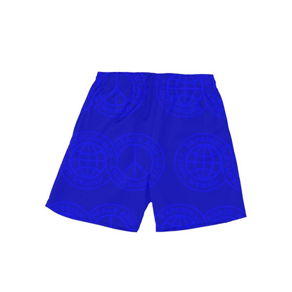 Image of humanunitypaceandlovemovement shorts blue