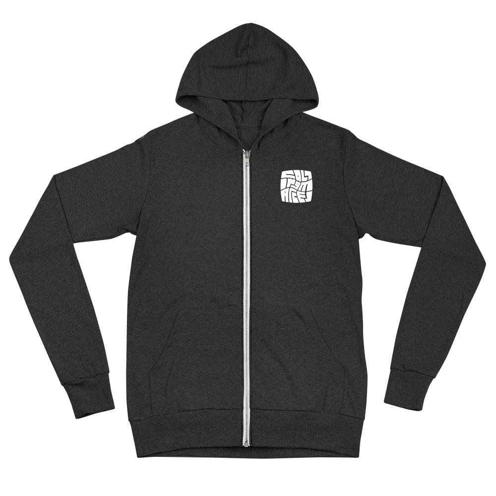 Square Branded Zip Hoodie