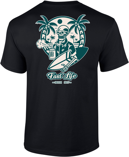 Tee-shirt Black Summer Vibes 2021 by Fast Life