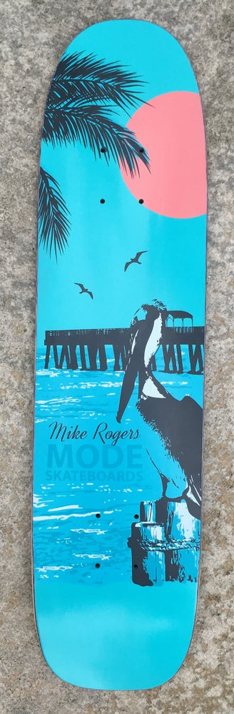 """Image of Mike Rogers """"Pelican"""" single-kick freestyle deck (sparkling blue) - 7.3 x 28.75"""