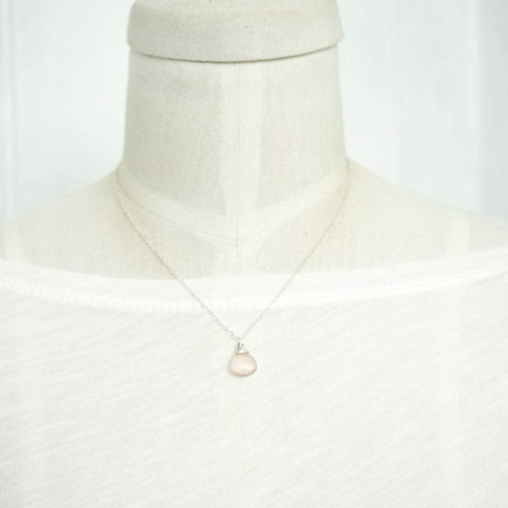 Image of Rose Quartz Necklace Sterling Silver