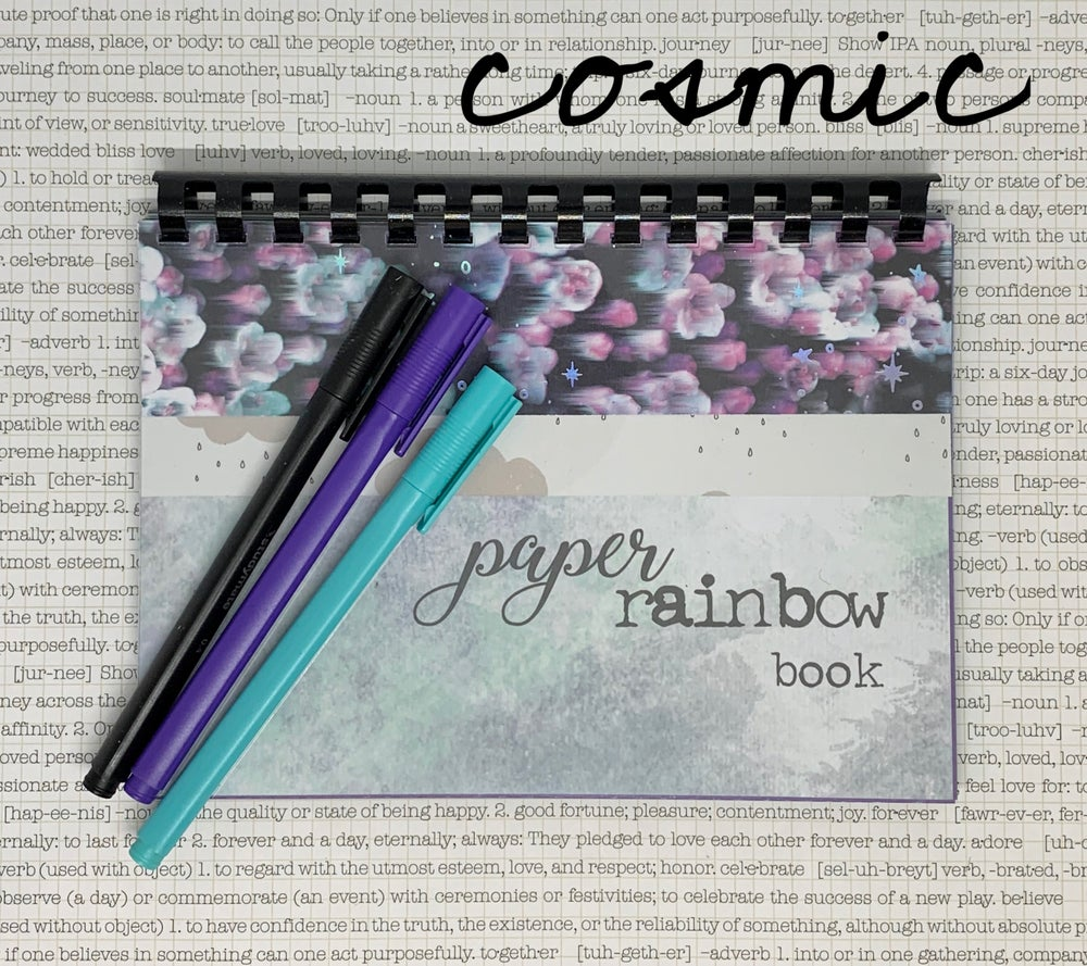 Image of paper rainbow book - blues