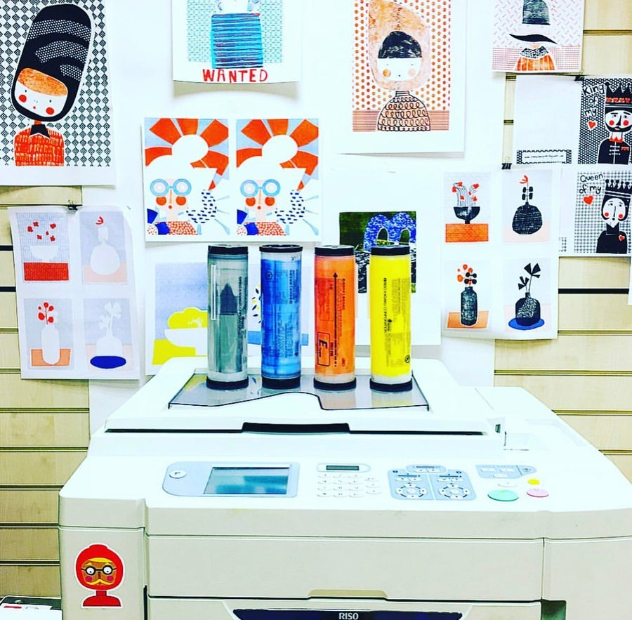 Image of A3 2 colour Riso Workshop - Saturday 16th October 10am - 1pm