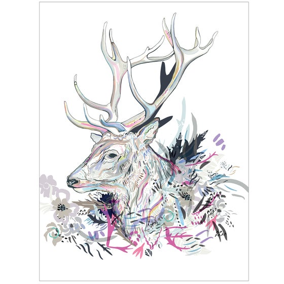 Image of Love Stag digital print