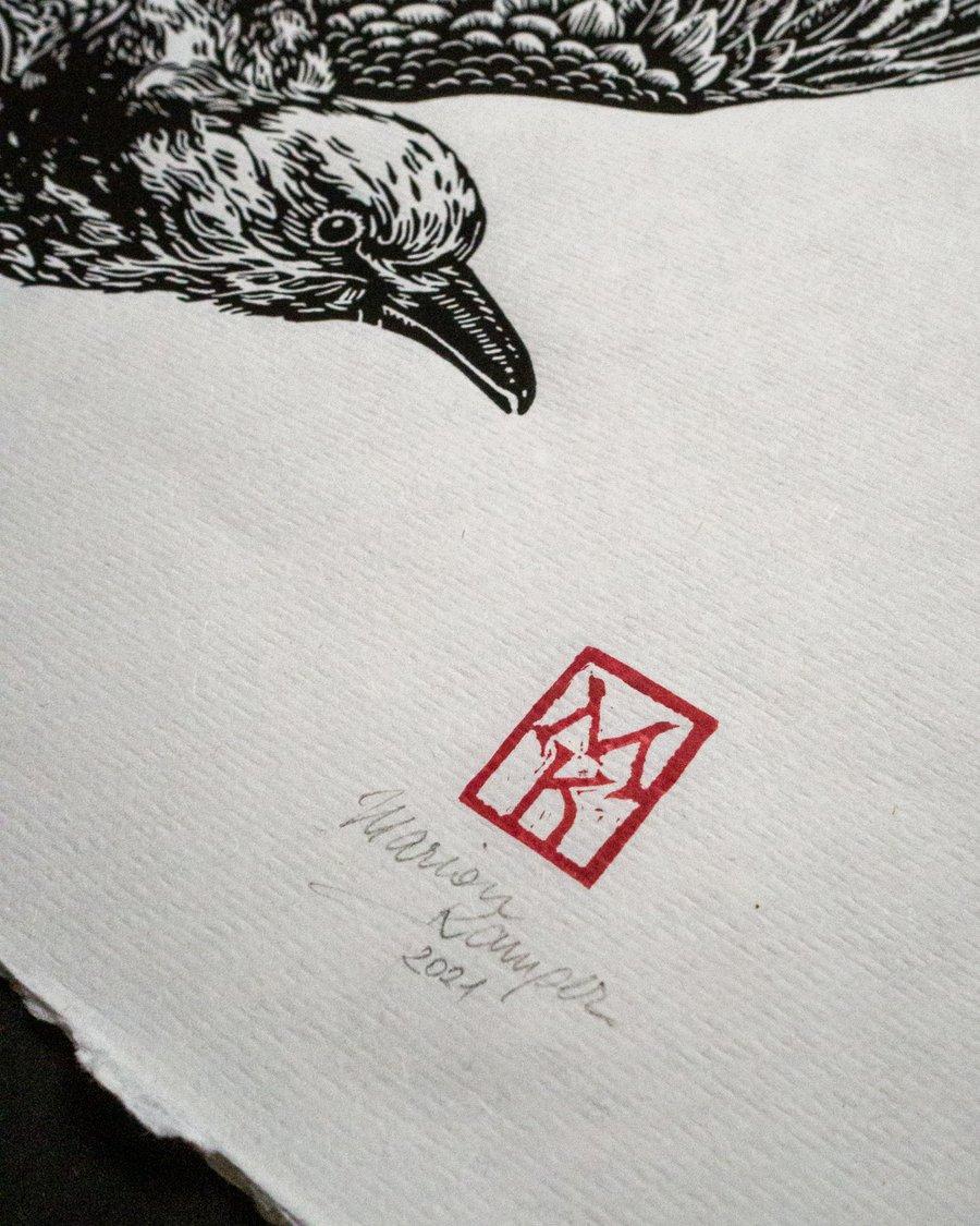 Image of Blauracke Linoprint Black