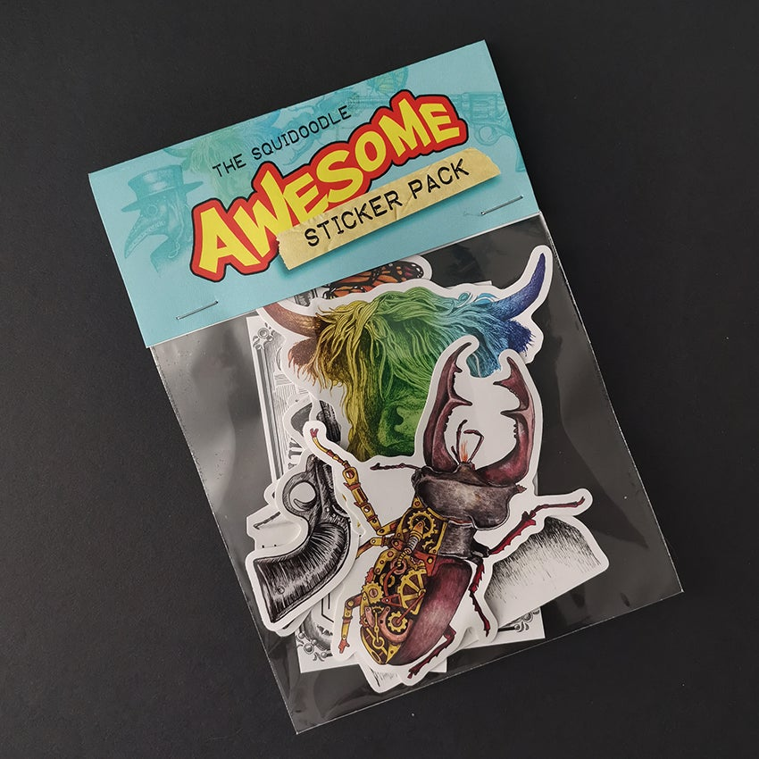 Image of The Squidoodle AWESOME Sticker Pack