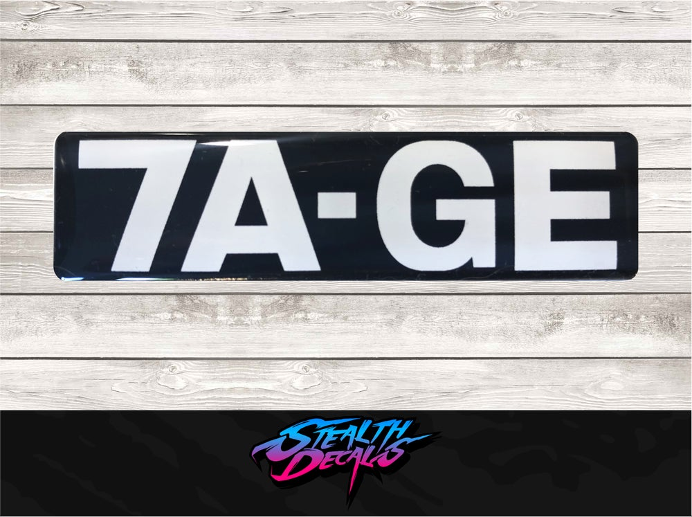 Image of AE86 7A-GE Timing belt cover sticker.
