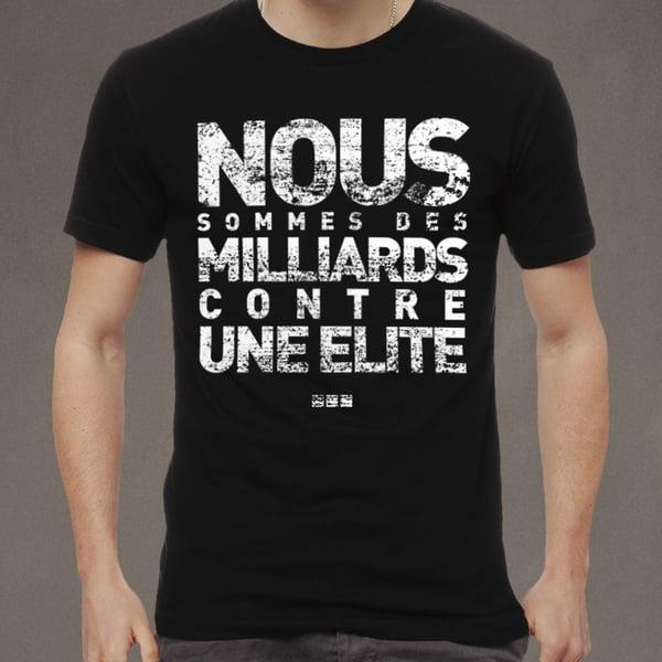 """Image of T-shirt homme noir """"Des milliards"""""""