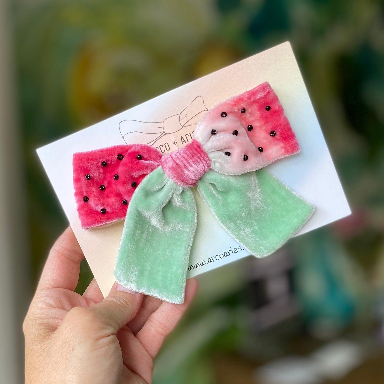 Image of Juicy custom dyed and embellished silk velvet bows