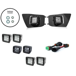 Image of Cali Raised LED Fog Light Pod Replacement Kit for 2ND GEN (2012-2015) Toyota Tacoma