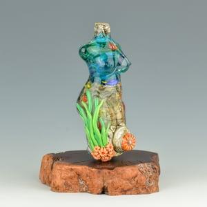 Image of XXXL. Tropical Coral Reef Goddess - Flamework Glass Sculpture