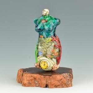 Image of XXXL. Sunny Coral Reef Goddess - Flamework Glass Sculpture